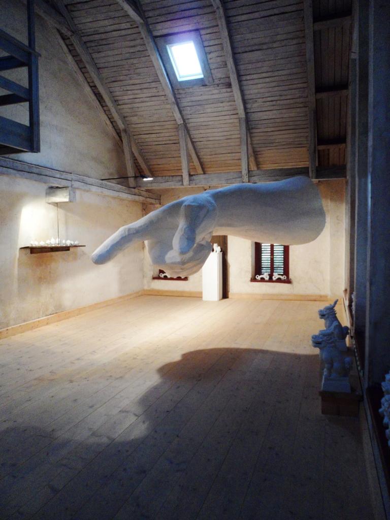 Arm. Exhibition Himmelsvitt, Nora Art Sweden 2012