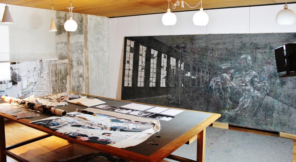 Studio at Swatch Art Peace Hotel, Shanghai 2014