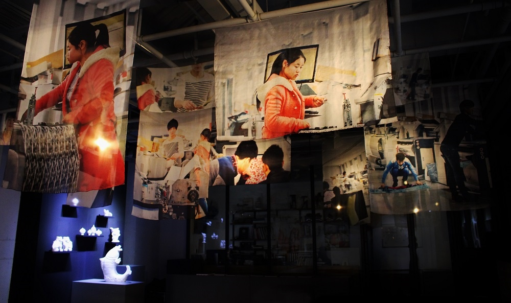 Jinmai series. Prints on silk chiffon. Gallery Art Labor Shanghai 2015.