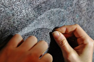 Cecilia stitching with silk